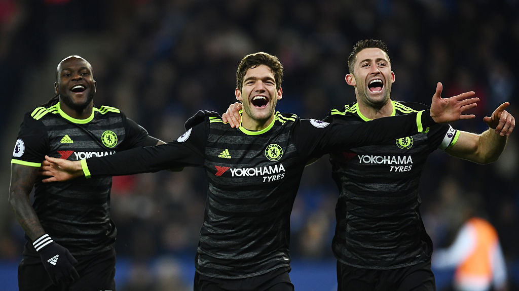Marcos Alonso, Victor Moses, Gary Cahill