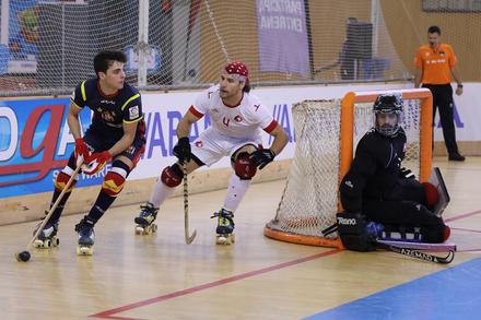 41623d0562 Suíça x Espanha - Corunha 2018 - Hóquei em Patins - Quartos-de-Final