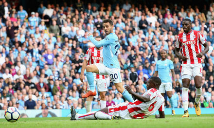 Manchester City x Stoke City - Premier League 2017/2018 - J8