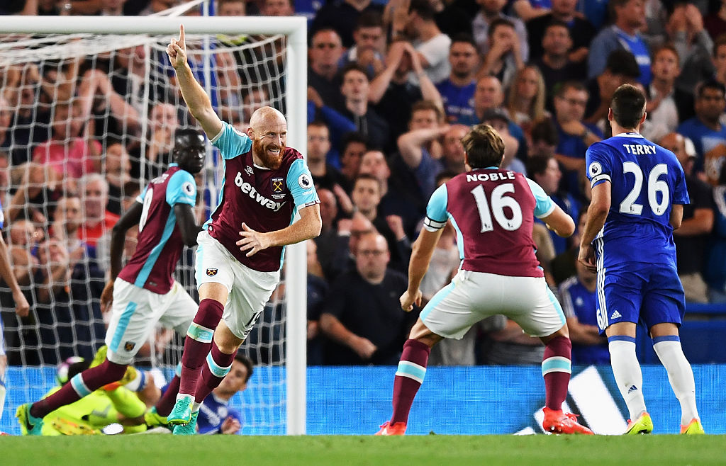 james collins,jogador,chelsea,equipa,west ham,premier league 2016/17,liga inglesa