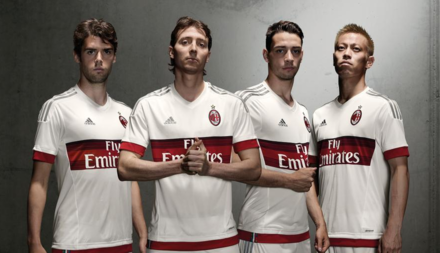 Equipamento alternativo AC Milan 2015/16