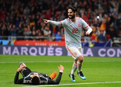 Espanha x Argentina - Jogos Amigáveis 2018 - Jogos Amigáveis 7827d5f80b7b6