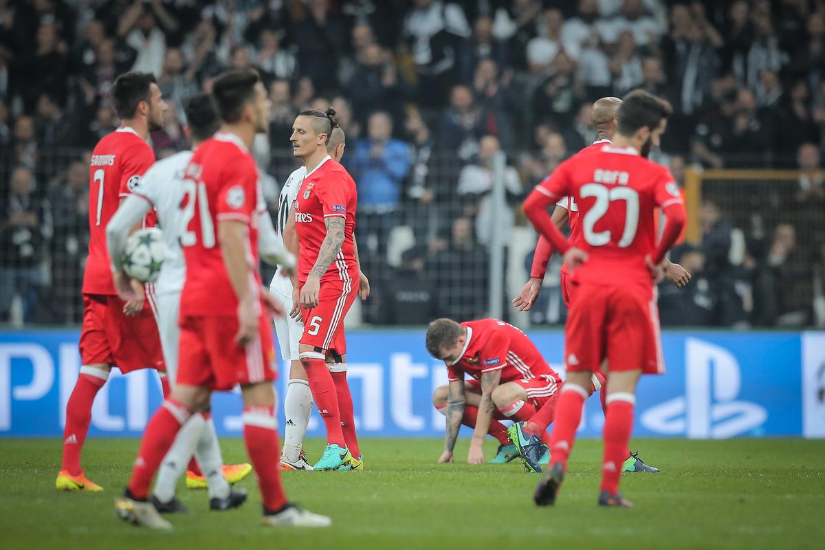 Benfica empata com Besiktas e ainda não está nos 'oitavos' da 'Champions'