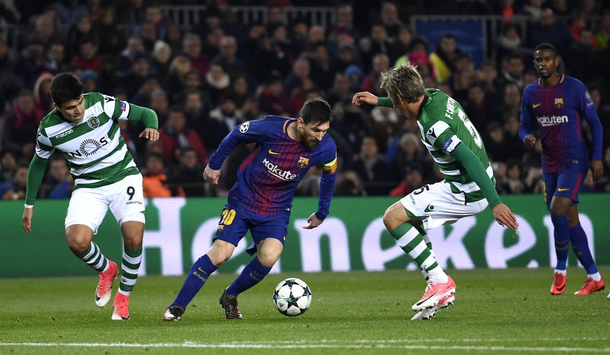 Barcelona x Sporting - Liga dos Campeões 2017/2018 - Fase de GruposGrupo D