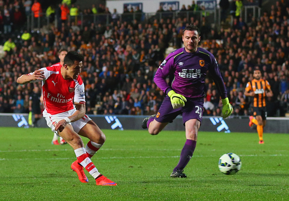 Alexis Sánchez, Steve Harper, Hull City, Arsenal 72