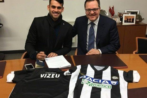 Felipe Vizeu é anunciado como reforço da Udinese, por cinco anos