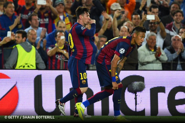 O Barcelona está mais perto de garantir a qualificação para a final da Liga  dos Campeões f445223c88998
