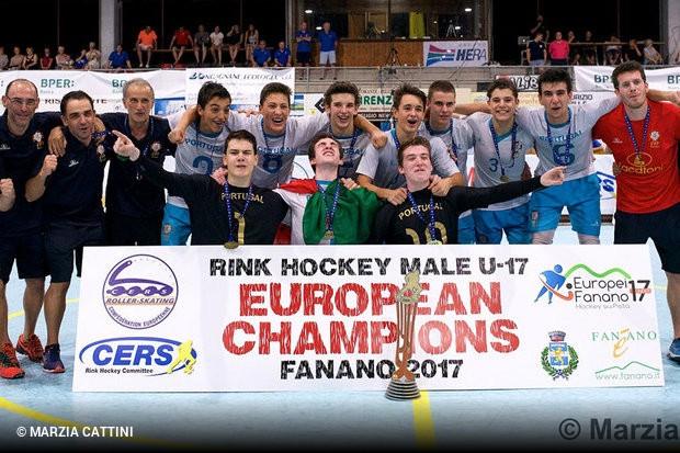 Portugal sagra-se campeão de Hóquei em Patins em sub-17    zerozero.pt d58a84e949012