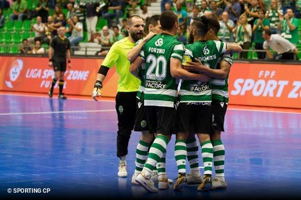 Ainda haverá jogos da Liga SportZone antes da Ronda de Elite da UEFA Futsal  Cup mas o Sporting já apresentou o evento que irá receber no Pavilhão João  Rocha ... b027ab441ae21