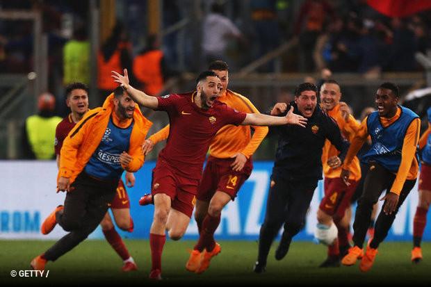 A equipa romana deu a volta à derrota por 4x1 em Espanha e eliminou o  Barcelona nos quartos de final da Liga dos Campeões. 6dc658c90dac3