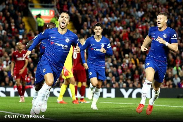 6853c3e0bd Grande jogo em Liverpool com o Chelsea a vencer por 1x2 e a eliminar o  Liverpool da Taça da Liga Inglesa. As duas equipas pouparam vários  jogadores