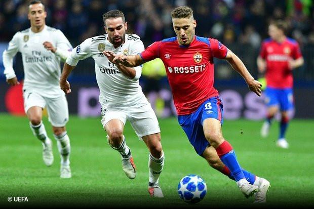 6b2802c905 O Real Madrid saiu esta terça-feira derrotado do duelo com o CSKA de  Moscovo (1x0)