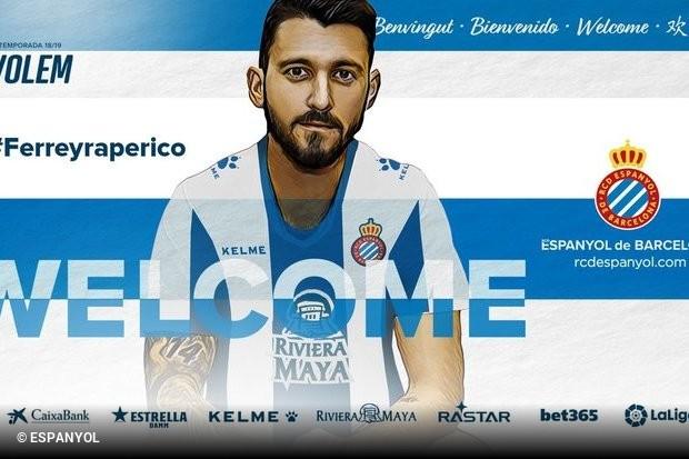 O avançado deixa o Benfica e é oficializado como reforço do Espanyol. O  argentino chega a Espanha por empréstimo de uma temporada e meia 94c01861e1acb