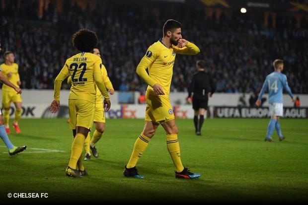 O Chelsea foi à Suécia e sai do país escandinavo mais perto dos  oitavos-de-final da Liga Europa do que o Malmö b3c3251f6502e